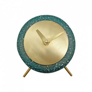 Ceas de masa verde rotund din terrazzo 17 cm Muzz Zago