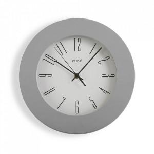 Ceas de perete rotund gri din plastic 30 cm Onya Versa Home