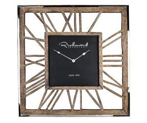 Ceas perete patrat din aluminiu si lemn 75x75 cm Everson Richmond Interiors