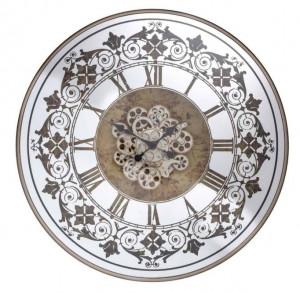 Ceas perete rotund multicolor din metal si sticla 82 cm Orvill Richmond Interiors