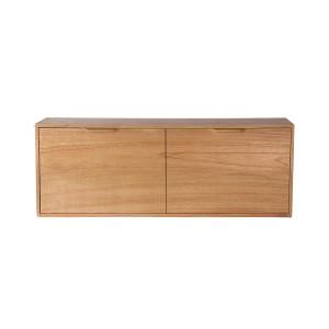 Comoda maro din placaj si lemn de sungkai 100 cm Carla B HK Living
