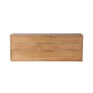 Comoda maro din placaj si lemn de sungkai 100 cm Carla E HK Living