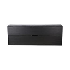 Comoda neagra din placaj si lemn de sungkai 100 cm Carla C HK Living