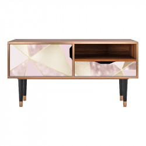 Comoda TV multicolora din MDF si lemn 114,2 cm Cosmopolitan Diva Sara Furny