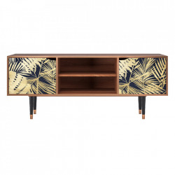 Comoda TV multicolora din MDF si lemn 170 cm  Jungle Vibes Lara Furny