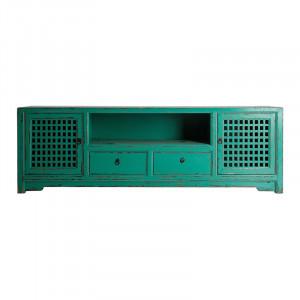 Comoda TV turcoaz din lemn 200 cm Jinan Vical Home
