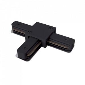 Conector electric negru din plastic cu 3 iesiri pentru sina Track Accesory Black Three Maytoni