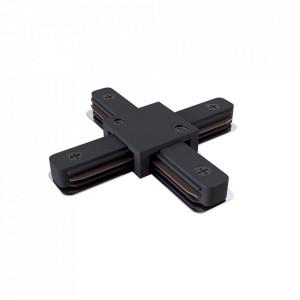 Conector electric negru din plastic cu 4 iesiri pentru sina Track Accesory Black Four Maytoni