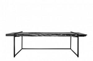 Consola neagra din lemn 280x70cm Lychee Versmissen