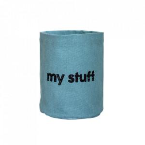 Cos albastru din bumbac My Stuff Bloomingville Mini