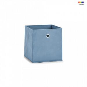 Cos albastru din fleece Storage Box Square Smoke Zeller