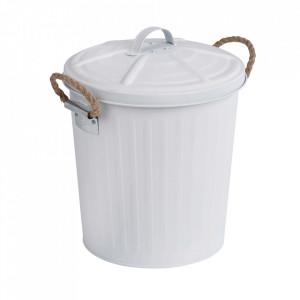 Cos de gunoi alb din otel 6 L Gara Wenko