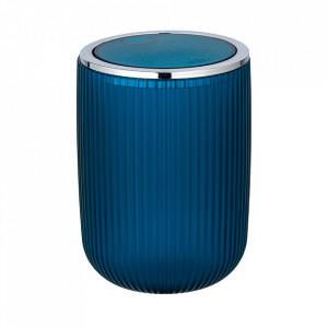 Cos de gunoi albastru petrol/argintiu din plastic 2 L Agropoli Wenko
