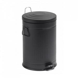 Cos de gunoi negru din metal 20 L Alan Nordal