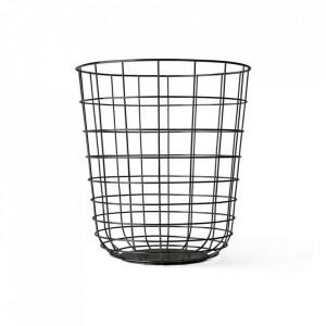 Cos de gunoi pentru birou negru din otel 32x35 cm Wire Menu