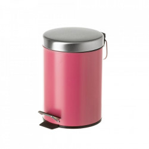Cos de gunoi rosu corai/argintiu din metal 3 L Burna Unimasa