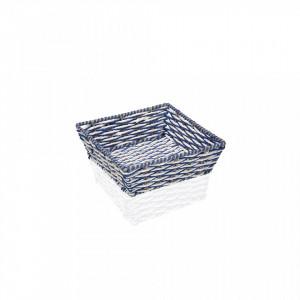 Cos gri/albastru din plastic Blue Square Versa Home