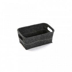 Cos gri din fetru Dark Basket Versa Home