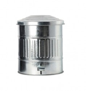 Cos gunoi argintiu din fier si zinc 25,5x30 cm Zina House Doctor