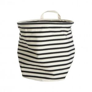 Cos pentru rufe bumbac/poliester 30x30 cm alb/negru Stripes House Doctor