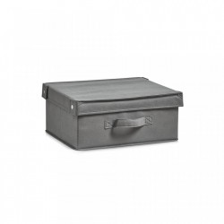 Cos pliabil gri din fleece Storage Box Foldable Cover Zeller