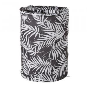 Cos rufe pliabil negru/alb din poliester 69 L Palm Unimasa