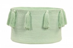 Cos verde menta din bumbac Tassels Soft Mint Lorena Canals