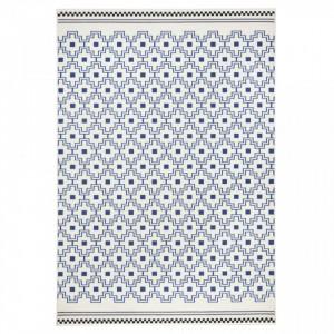Covor alb/albastru Cubic Zala Living
