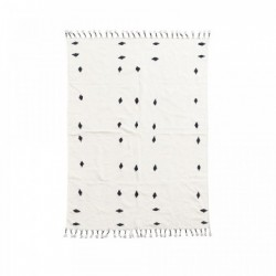 Covor alb din bumbac 200x140 cm Backside Off-White House Doctor