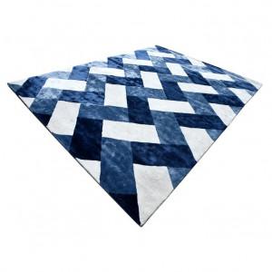 Covor albastru/alb din lana 300x400 cm Retro Van Roon Living