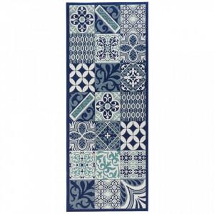 Covor albastru bucatarie 200x80 cm Accent Zala Living