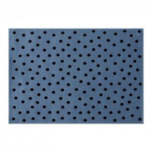 Covor albastru denim/negru din fibre acrilice 120x160 cm Dots Lorena Canals