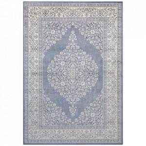 Covor argintiu/albastru din bumbac si viscoza 160x230 cm Keshan The Home