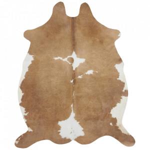 Covor crem/maro din blana 155x190 cm Wild Chester Cream Brown Mint Rugs