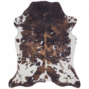 Covor crem/maro din blana 155x190 cm Wild Cream Brown Mint Rugs