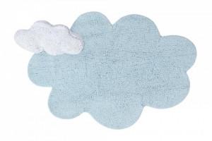 Covor dreptunghiular albastru din bumbac pentru copii 110x170 cm Puffy Dream Blue Lorena Canals