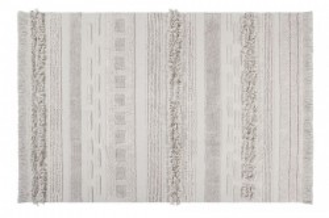 Covor dreptunghiular crem din bumbac 140x200 cm Air Natural Lorena Canals