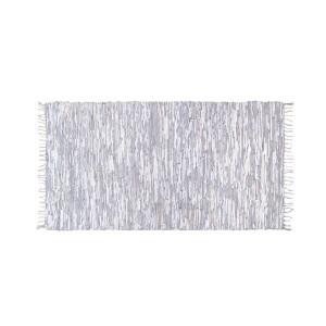 Covor dreptunghiular din piele 175x90 cm alb Leather HK Living