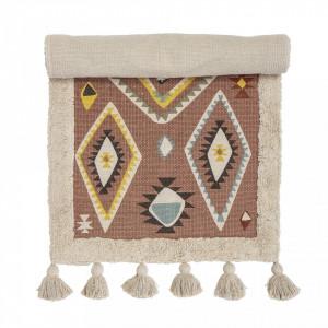 Covor dreptunghiular multicolor pentru copii din bumbac 65x120 cm Ethnic Bloomingville Mini