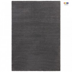 Covor gri antracit din poliester si polipropilena Glow Loos Anthracite Elle Decor (diverse dimensiuni)
