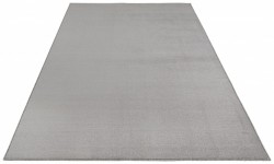 Covor gri din polipropilena Bare Light Grey BT Carpets