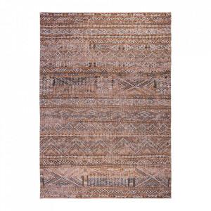 Covor maro din bumbac si lana Antiquarian Agdal Brown Louis de Poortere (diverse dimensiuni)