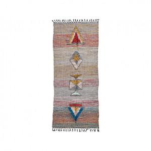 Covor multicolor din bumbac si iuta 90x200 cm Amara House Doctor