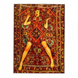 Covor multicolor din bumbac si poliester 200x280 cm Lady on Carpet Toiletpaper Seletti