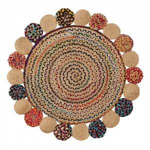 Covor multicolor din iuta si bumbac 100 cm Ginnis La Forma