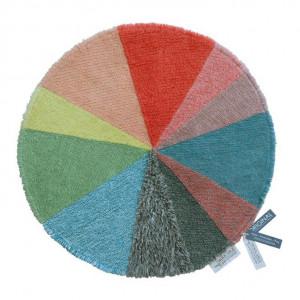 Covor multicolor din lana 120 cm Pie Chart Lorena Canals