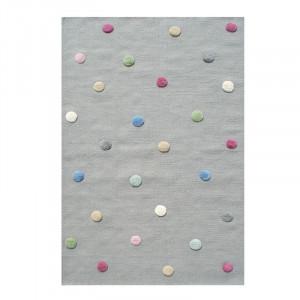 Covor multicolor din lana Colordots Flieder Grau 3D Livone (diverse dimensiuni)