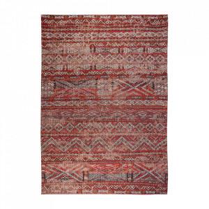 Covor rosu din bumbac si lana Antiquarian Fez Red Louis de Poortere (diverse dimensiuni)