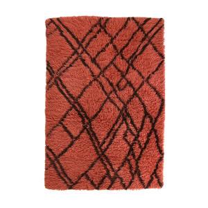 Covor rosu din lana 120x180 cm Berber Funky Red HK Living