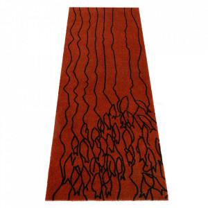 Covor rosu/maro din poliamide 67x180 cm Viva Impulse Elle Decor
